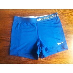 Nike Pro Dri-Fit Blue Compression Shorts